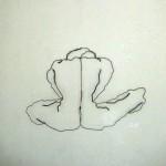 Akt Im Raum Zeichnung aus Draht 30 x 50
