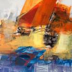 """09/15"",2015,Kunstharz u.Öl,140/100cm"