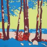 B 28 Bei Monschau, 2013, Acryl auf Leinwand, 100 x 100