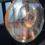 turbulenzen,2011 Ofengeschmolzenes Glas, 14cmxØ70cm