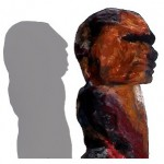 Affe - Mann, 2003, etwa 40 x 40 x 40 cm