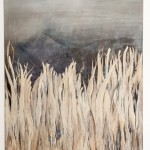 """Ein Bett im Kornfeld"", 2013, Acryl auf Leinwand, 100 x 120 cm"