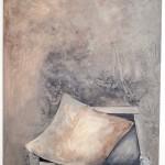 """""""Silence"""", 2013, Acryl auf Leinwand, 100 x 120 cm"""