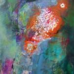 Klang der Farben II, 2015, Acryl/Al-Folie, 100 x 70 cm