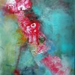 Klang der Farben I, 2015, Acryl/Al-Folie, 100 x 70 cm