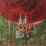 "Sanmitra Felix, ""Ohne Titel"", 40cm x 40 cm, Acryl, M.T., 2010"