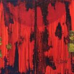 "Sanmitra Felix, "" Ohne Titel"", Acryl, M.T., 70cm x 100 cm, 2009"