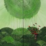 "Sanmitra Felix ""Ohne Titel"", Dipthychon, Acryl, M.T., 150cm x 200cm, 2011"