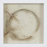 Die Kraft der Erinnerung, 2010, Stahlblech, Kokosfaser, Hanf, Acryl auf Filz, 25 x 25 cm