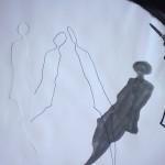 Moving Shadows, 2007, Tusche auf Papier, 42 x 59 cm