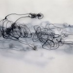 (Durch) Sicht: a Bodyscan, 2018, Tusche auf Transparenzpapier, 29 x 42 cm
