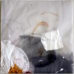 (Hell)Sicht / clairvoyant, 2019, Acryl und Bleistift auf Transparenzpapier, 30 x 30 cm