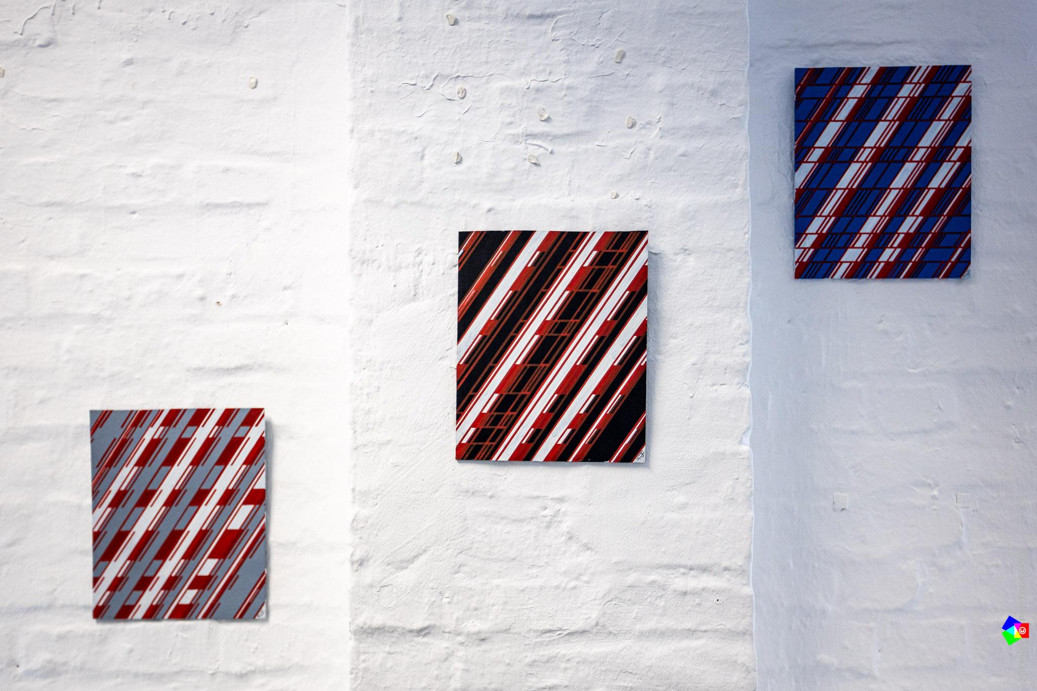 Hubertus Peters – Rot trifft - grau-blau-schwarz