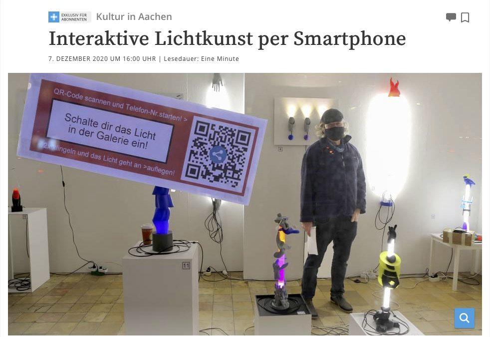 Interaktive Lichtkunst per Smartphone – Artikel aus der AZ