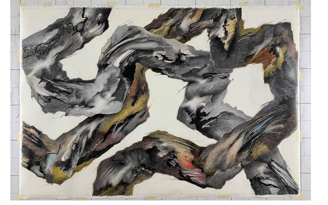 Bleistift und Farbstift auf Papier, Größe 110 x 160 cm
