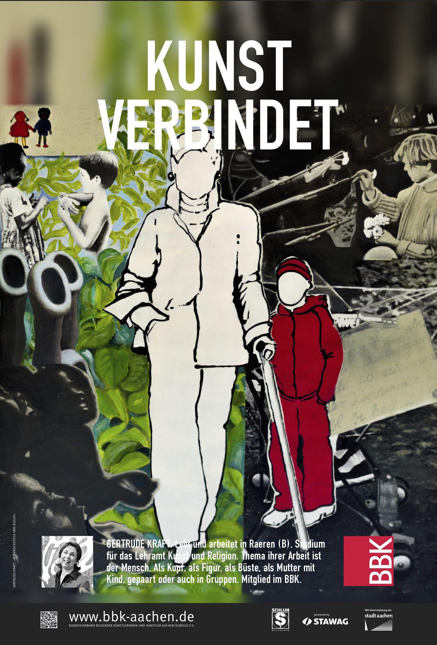 Gertrude Kraft »Mit Krückstock und Buggy«