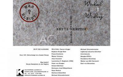 """Ausstellung """"Was bleibt? – Beuys-Rezeption in der Region"""""""